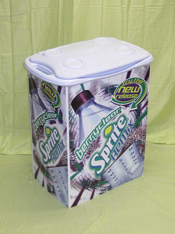 Product sample cooler sprite