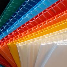 Laminated Polyethylene Corrugated Plastic Sheet - 53.5in x 58in