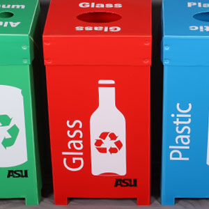 Corrugated plastic recycle containers