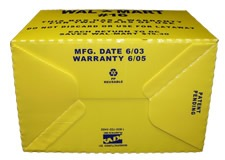 Wal-mart Product Line Breakpack Carton bottom view