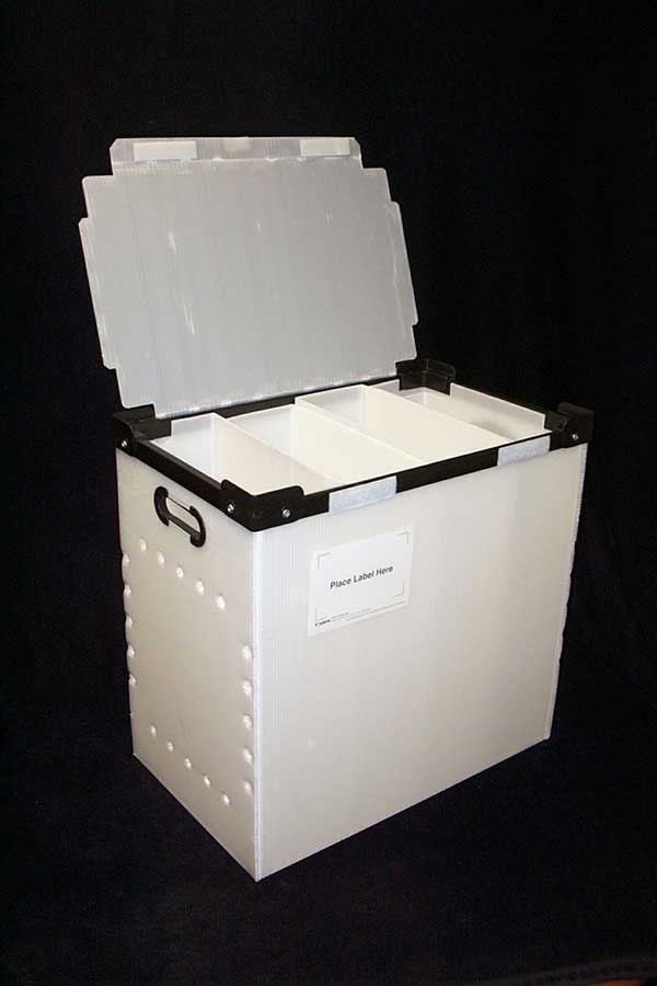 plastic product sample Container box with attached lid
