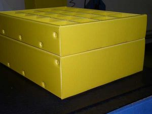 Plastic product example yellow box side
