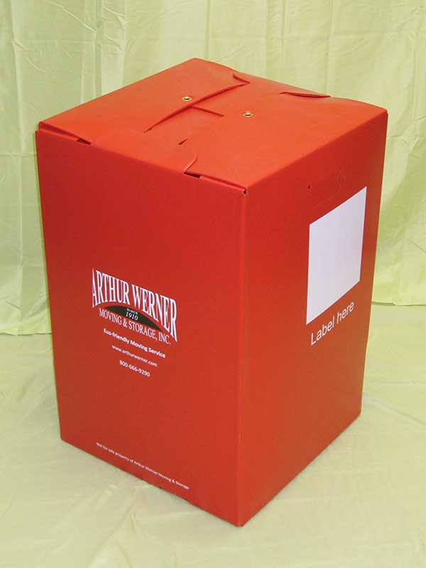 Plastic product example moving container Arthur Werner Storage Inc