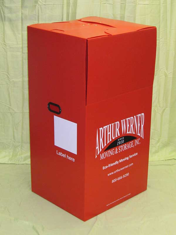 Plastic product example red moving wardrobe Arthur Werner Storage Inc