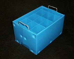 straight Wall Tote Stacking Plastic with Wire Handles