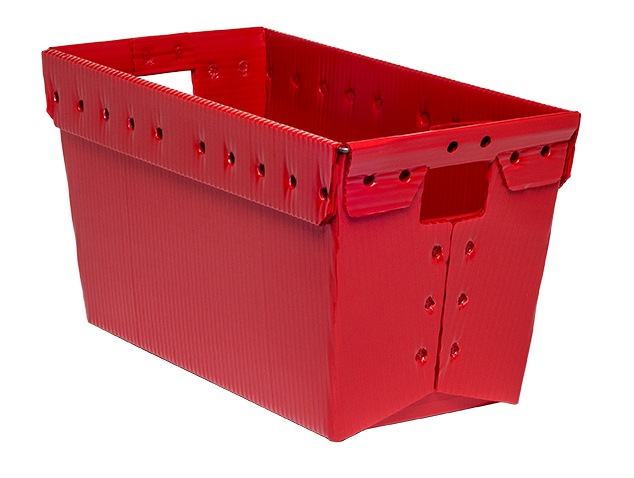 corrugated plastic box nestable totes KP-1535-Plastic Packaging Solutions Plastics
