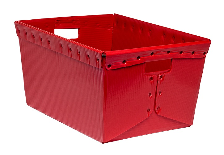 corrugated plastic box nestable totes KP-1538-Plastic Packaging Solutions Plastics