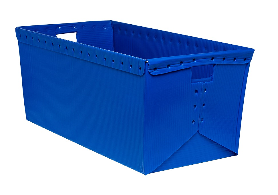 corrugated plastic box nestable totes KP-1552-Plastic Packaging Solutions Plastics