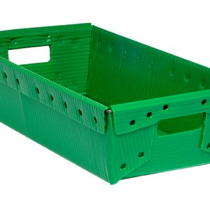 green corrugated plastic box nestable totes KP-1558-Plastic Packaging Solutions Plastics