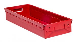KP2503 – Welded Check Box red corrugated plastic tray Plastic Packaging Solutions Plastics