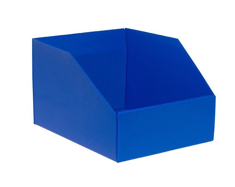 plastic boxes Hopper Drop Front Knockdown Tray