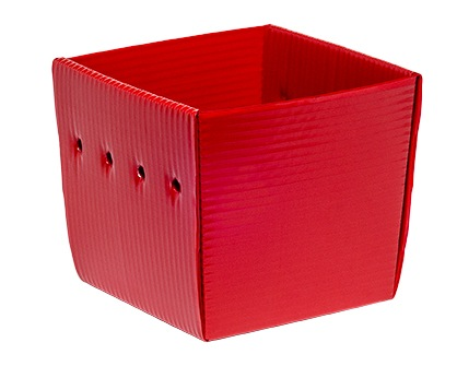 red corrugated plastic Nestable Welded Tote KP-5640-Plastic Packaging Solutions Plastics