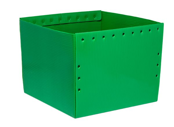 green corrugated plastic Nestable Welded Tote KP-5640-Plastic Packaging Solutions Plastics