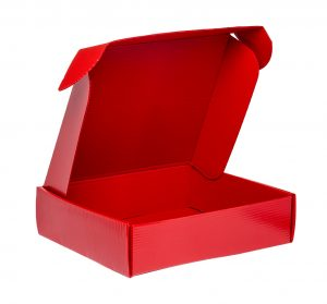 plastic boxes RELF - Roll End Lock Front - (Pizza Box)