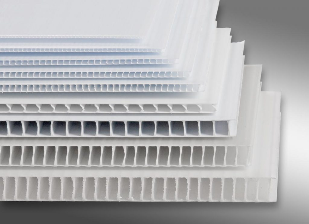 Polypropylene PP Plastic Corrugated Profile Sheet #25mm Polypropylene Profile Sheet - 48in x 96in
