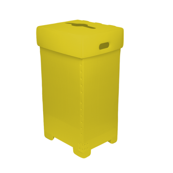 Plastic Recycling Bin with lid